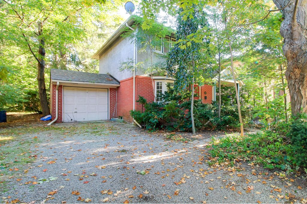 Fully detached house. Nicely updated. Steps to King. Mature trees surround.