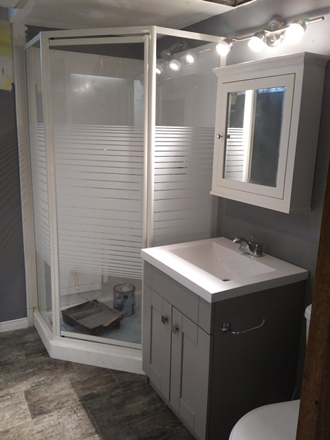 Renovated in 2017 lower washroom