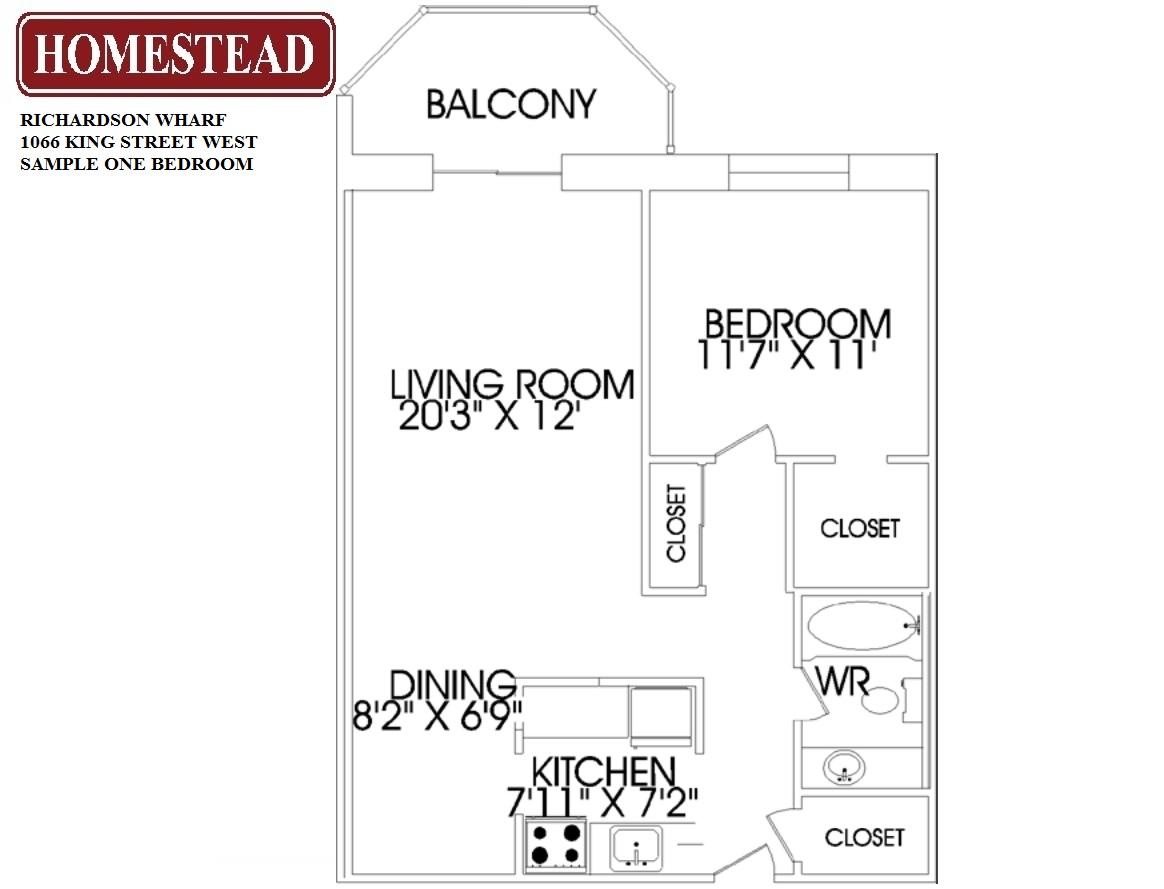 Richardson wharf homestead for 1 king west floor plans