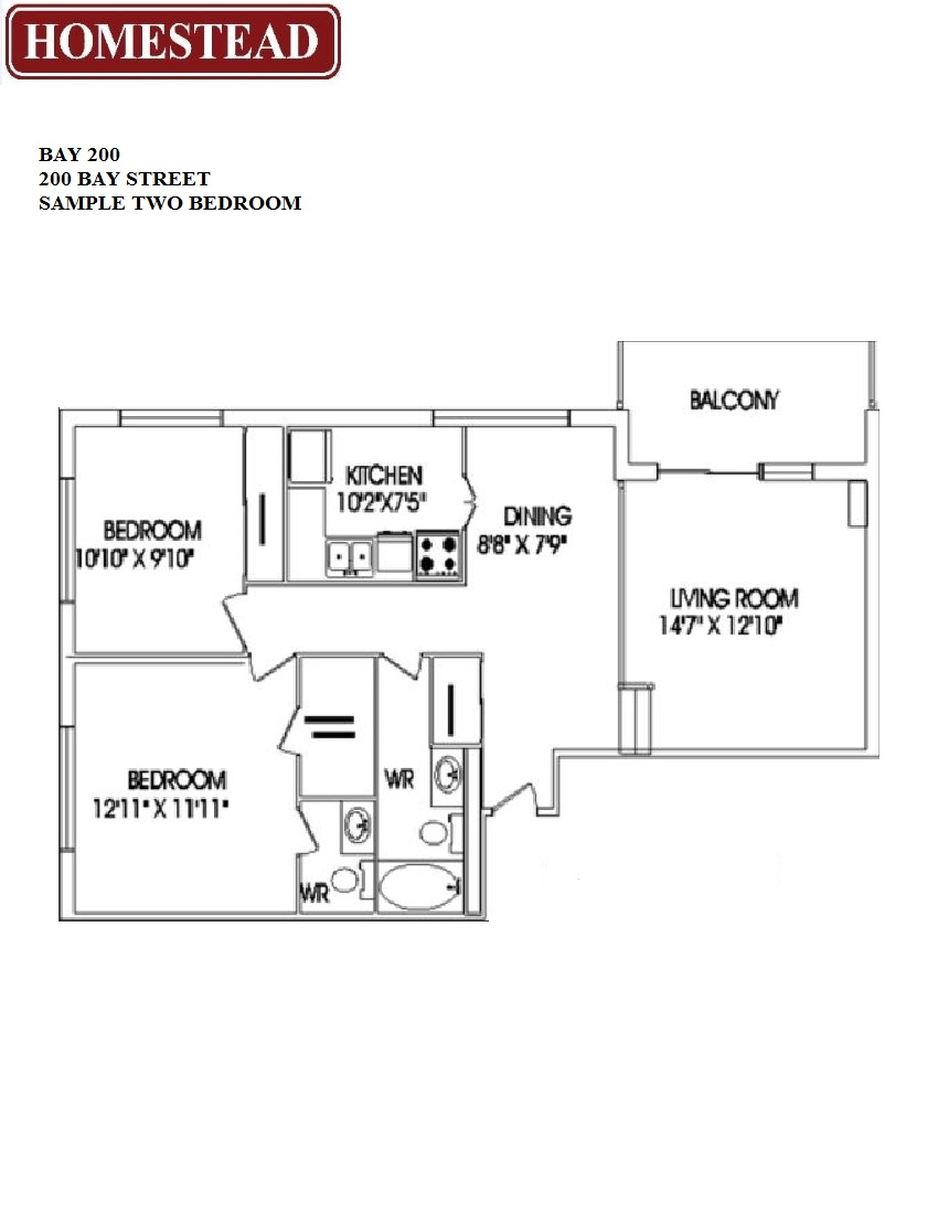 Bay 200 apartments homestead for Floor plans 761 bay street