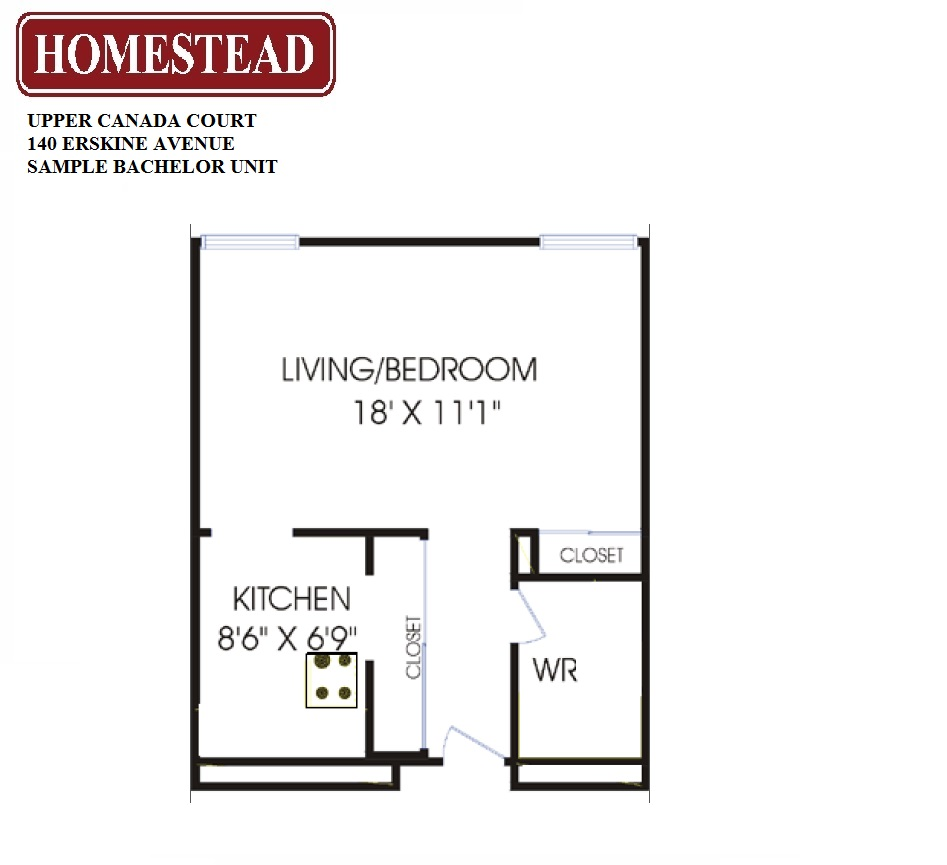 Upper canada court 140 yonge and eglinton homestead for Apartment floor plans toronto