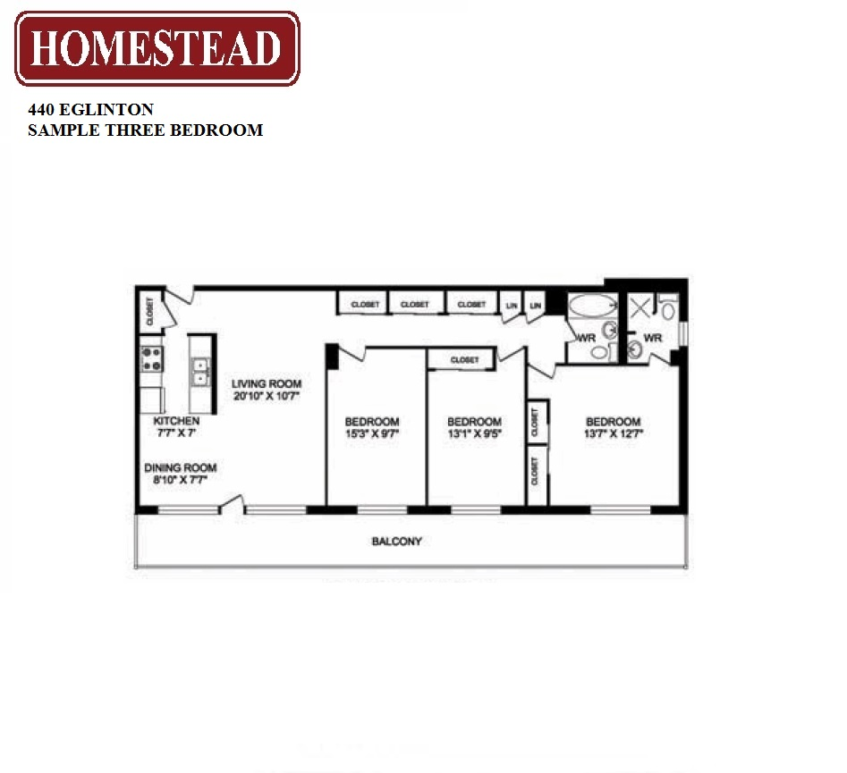 440 eglinton apartments homestead for Apartment floor plans toronto