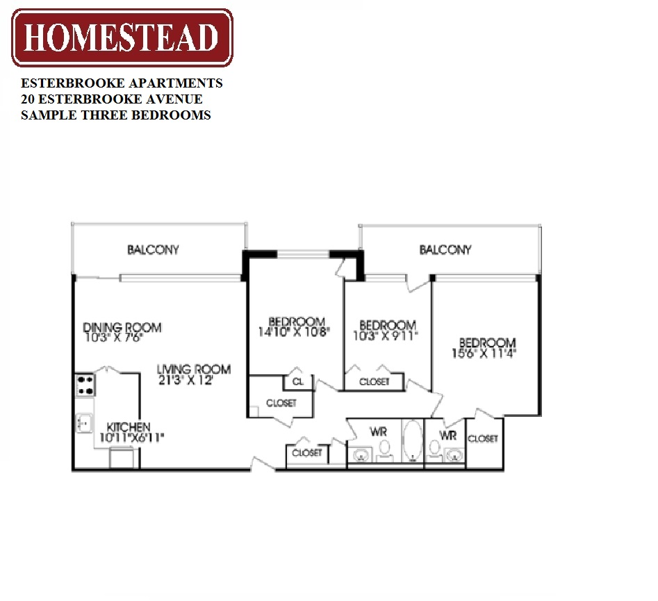 Fairview Mall Floor Plan: Esterbrooke Apartments