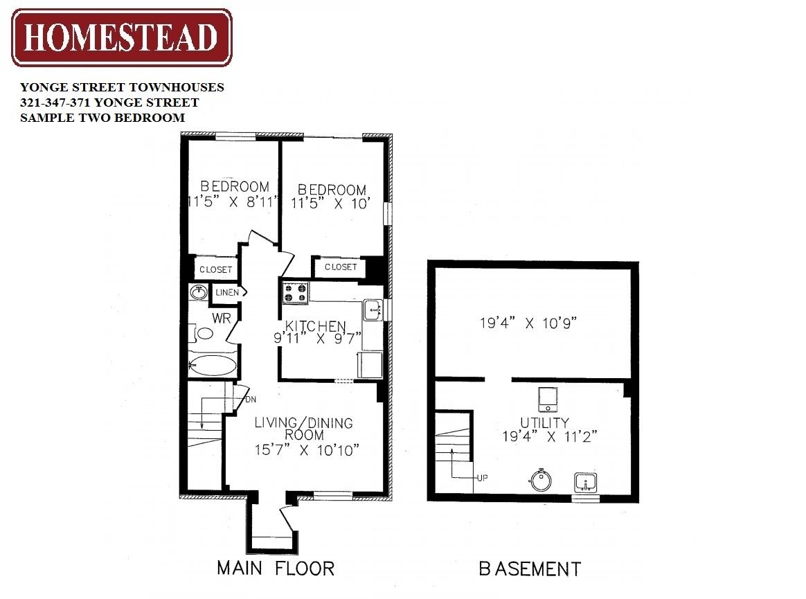 Yonge street townhouses homestead for 10 yonge street floor plan