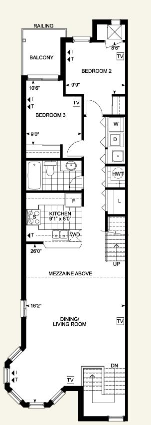 3 Bedroom Loft