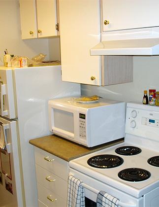 Dufferin Terrace 'before' kitchen