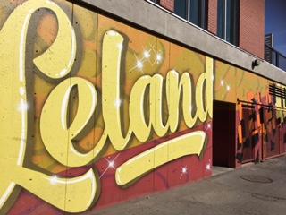 Kelson Place Leland Hotel Mural details
