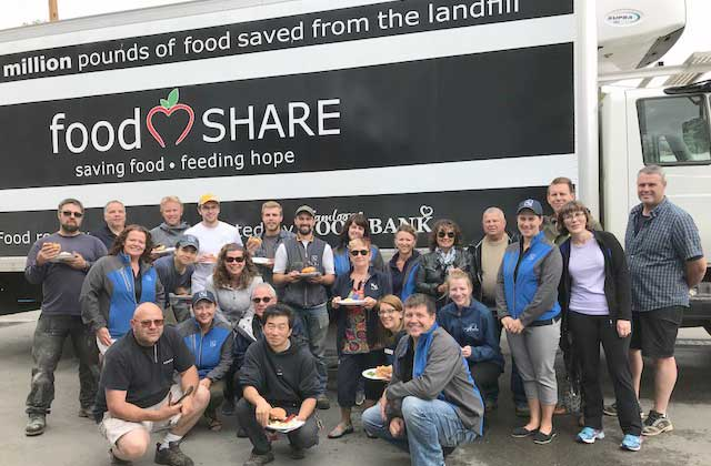 Kelson Group staff and Kamloops Food Bank