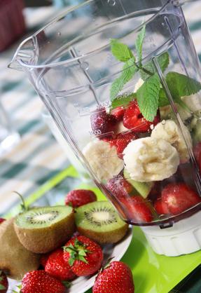 Fresh vivid smoothie ingredients
