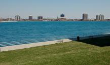 Community Pic., View Across Lake Huron From Sarnia Boardwalk to Port Huron, USA