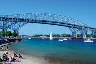Community Pic., Sailing Under the Bluewater Bridge to Port Huron, USA