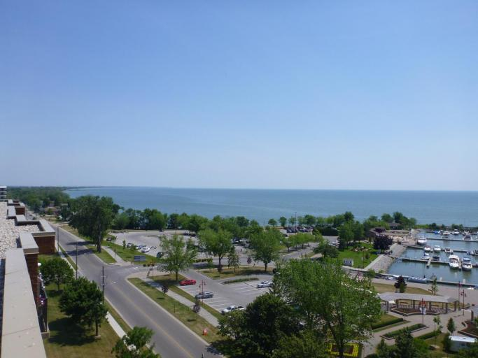 View Of Leamington Marina Park, the Marina and Lake Erie From The West Side Roof Top Terrace