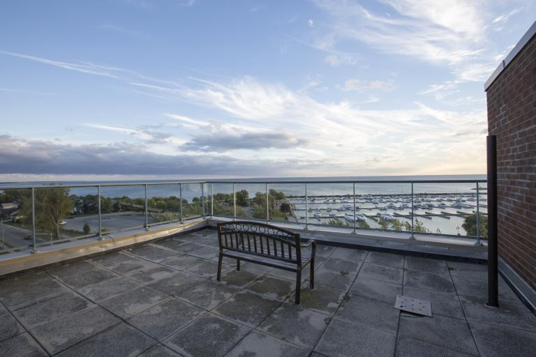 East Side Roof Top Terrace and View of Lake Erie