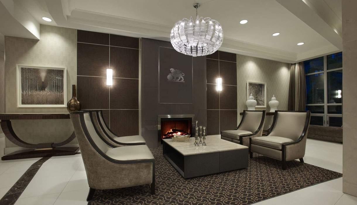 KG Harrison Fireplace Lobby