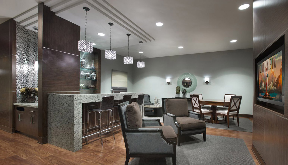 KG Harrison Amenities Luxury Amenities Party Room Lounge with Free WiFi and Netflix