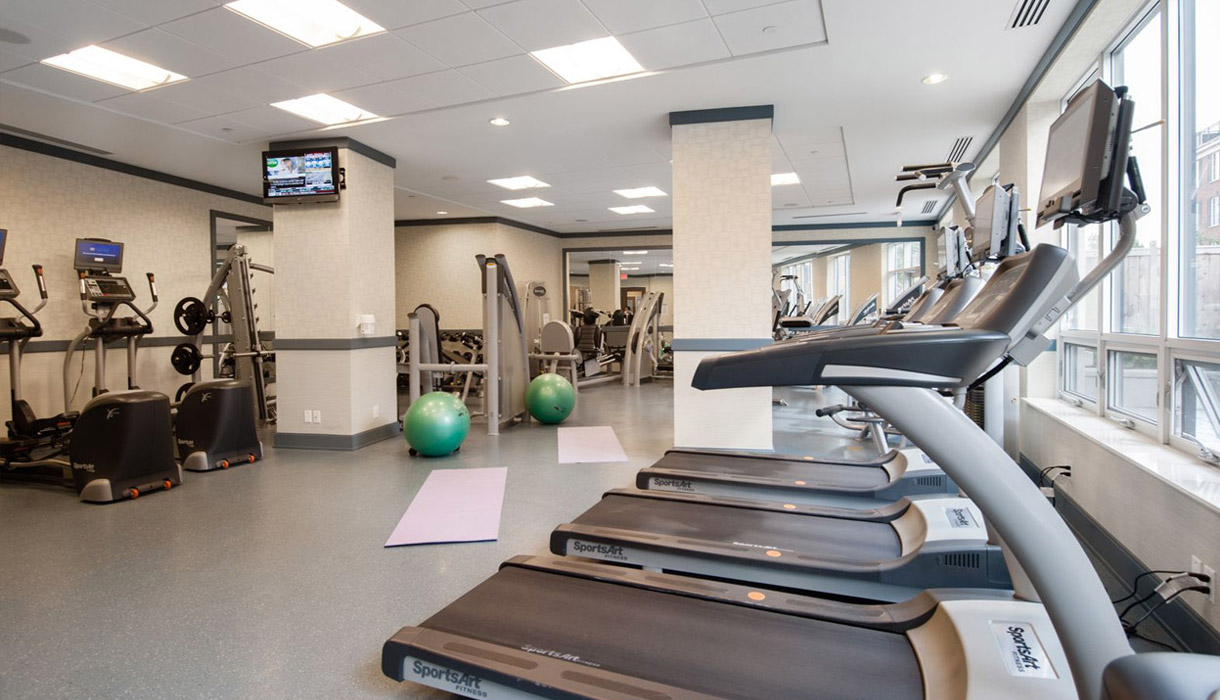 KG Harrison Luxury Amenities State of the Art Gym Cardio Wall with Free WiFi