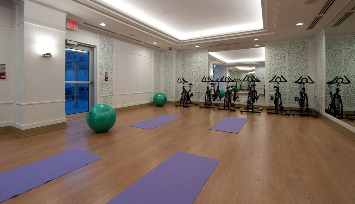 KG Harrison Luxury Amenities Yoga Studio with Free Virtual Fitness on Demand