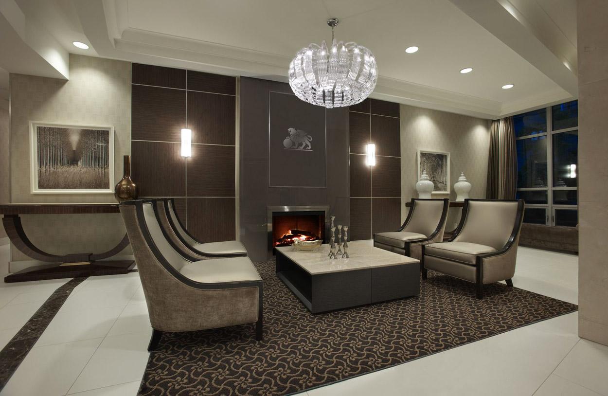KG Harrison Luxury Lobby Fireplace Lounge with Free WiFi