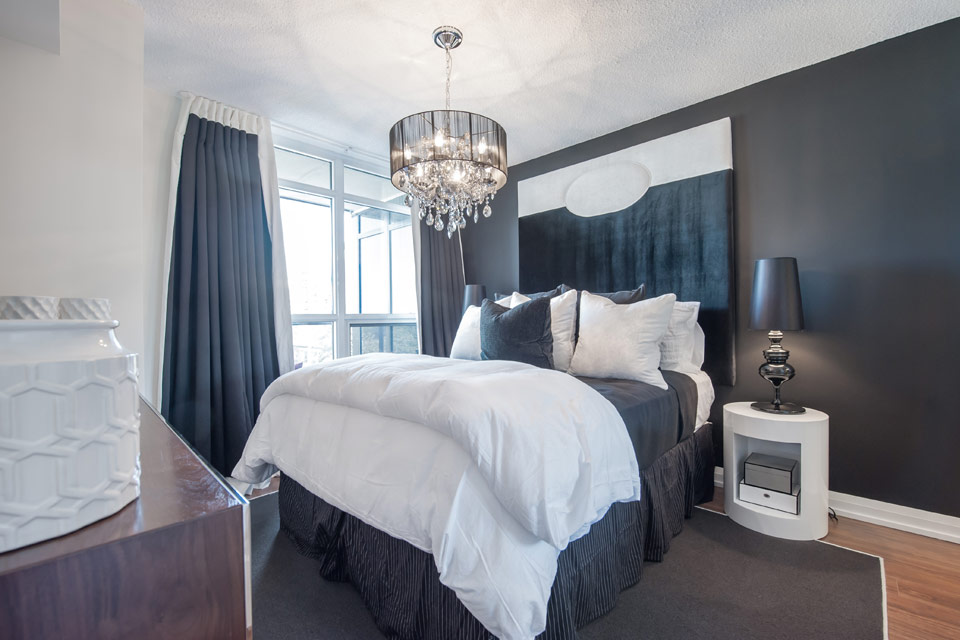 KG Roehampton Luxury Model Suite Master Bedroom