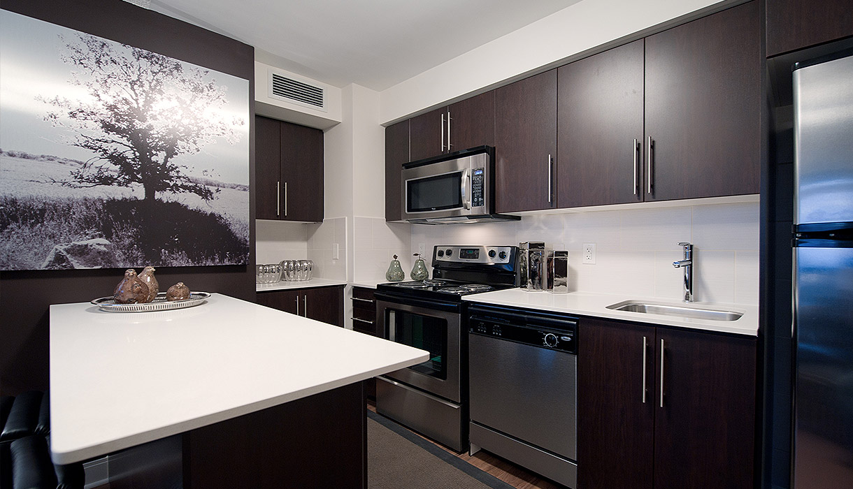 KG Harrison Luxury 2 Bedroom Model Suite Kitchen