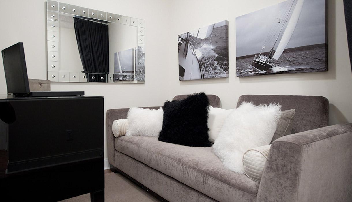 KG Harrison Luxury Model Suite Plush Office Den Area