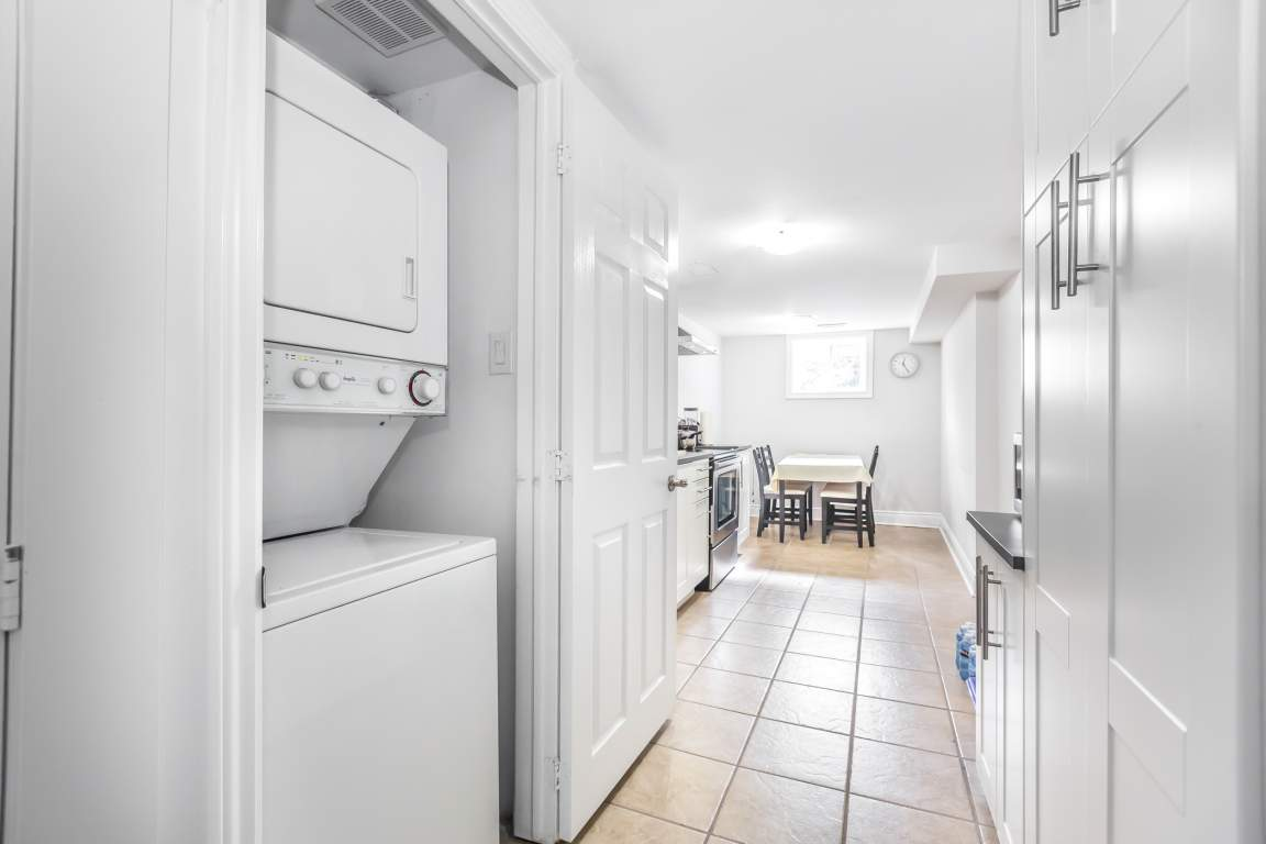 washer and dryer in kitchen (actual  apt on 2nd floor)