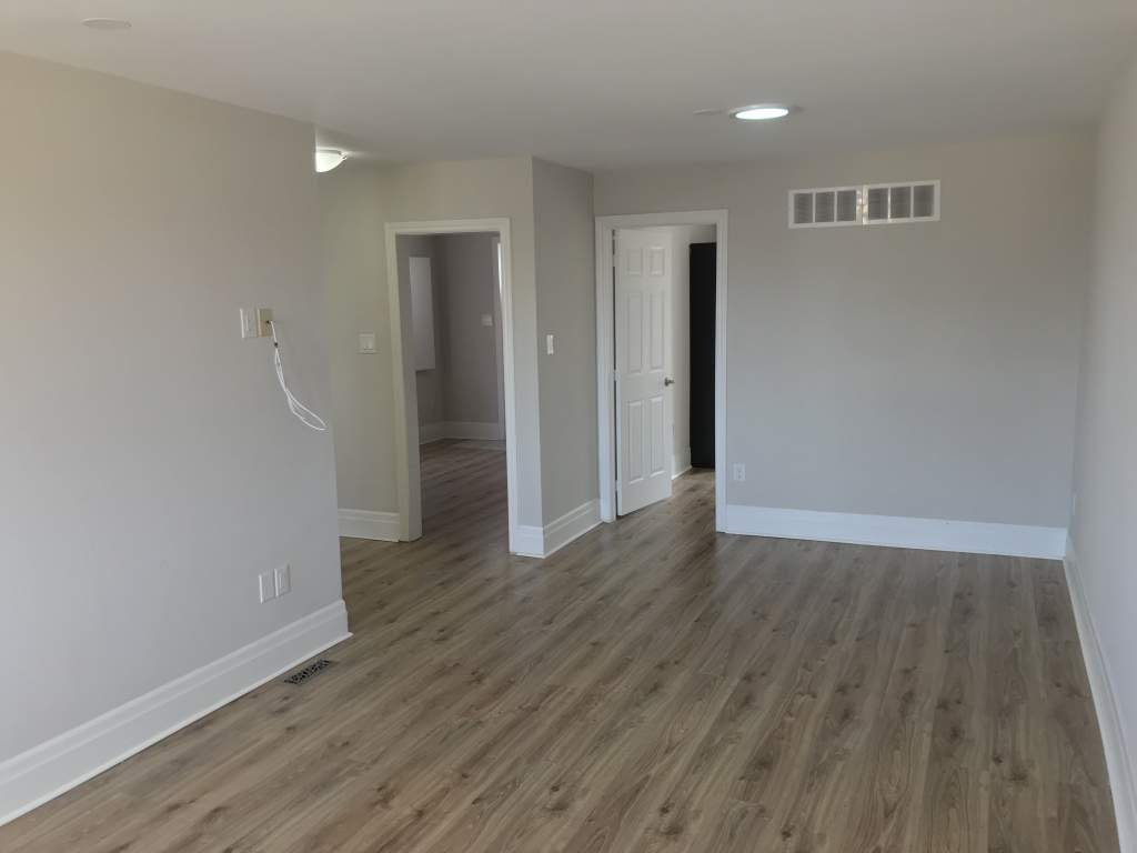 View of Living area looking into Kitchen and Bedroom