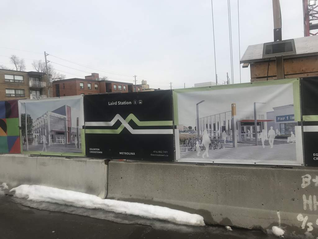 opposite Laird Station (opens 2021)