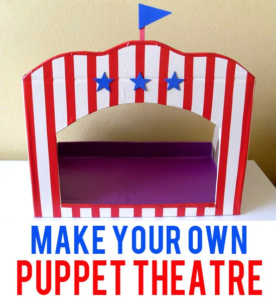 DIY: Tabletop Puppet Theatre for only $5