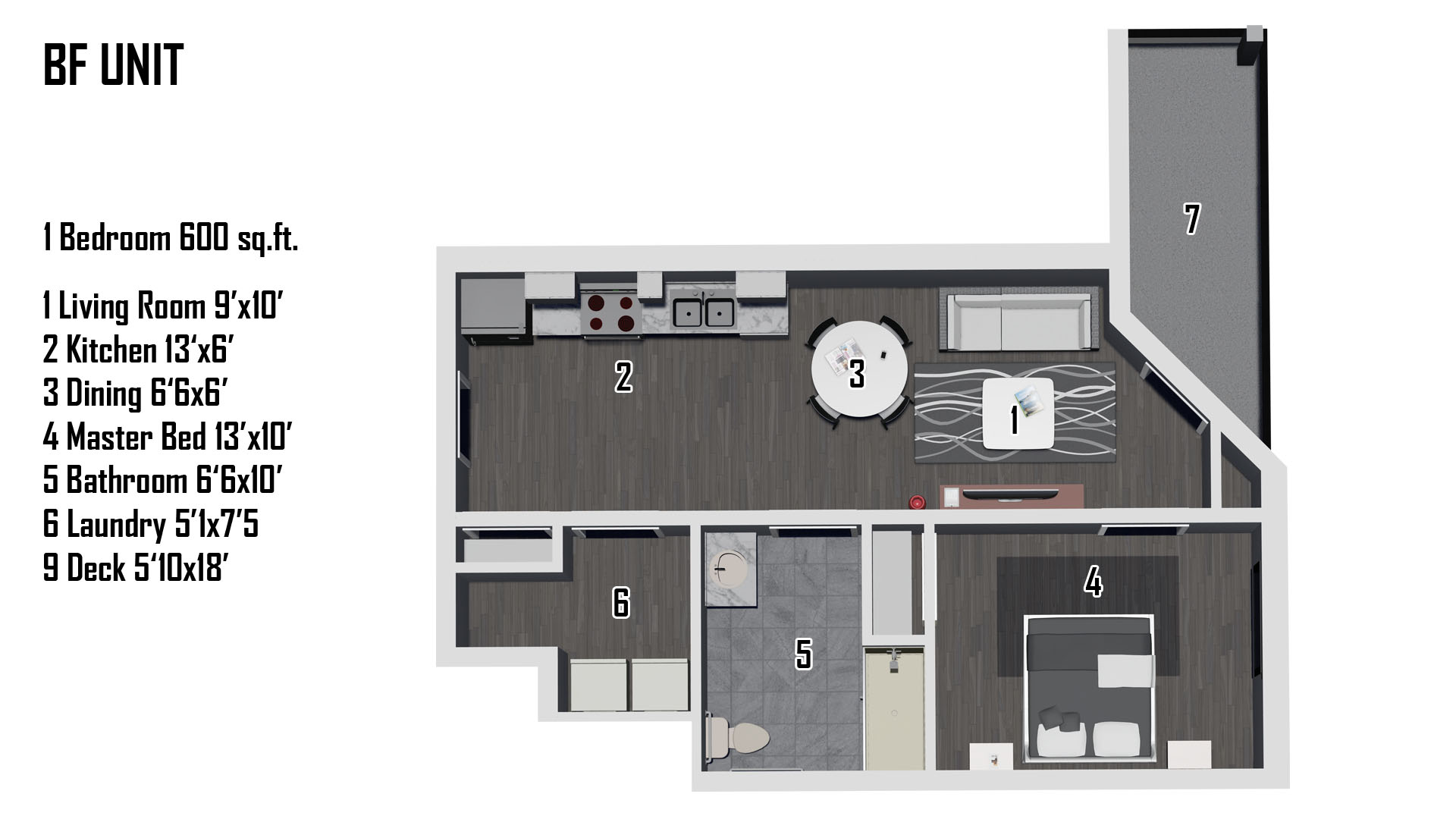 Handicapped Accessible Unit Floorplan