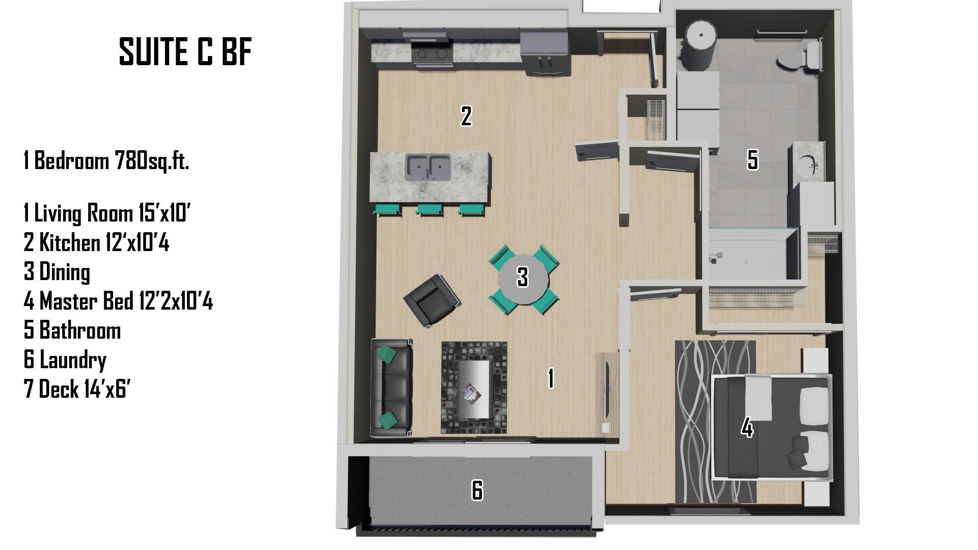 C (BF) Floorplan