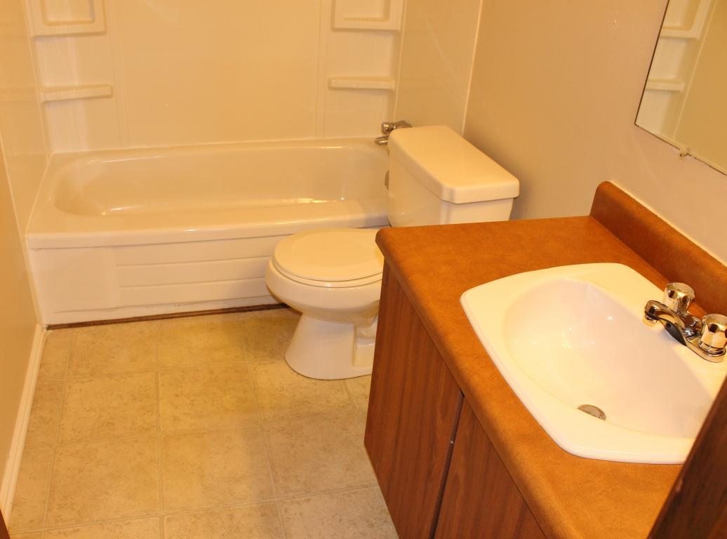 Spotless newer bathrooms