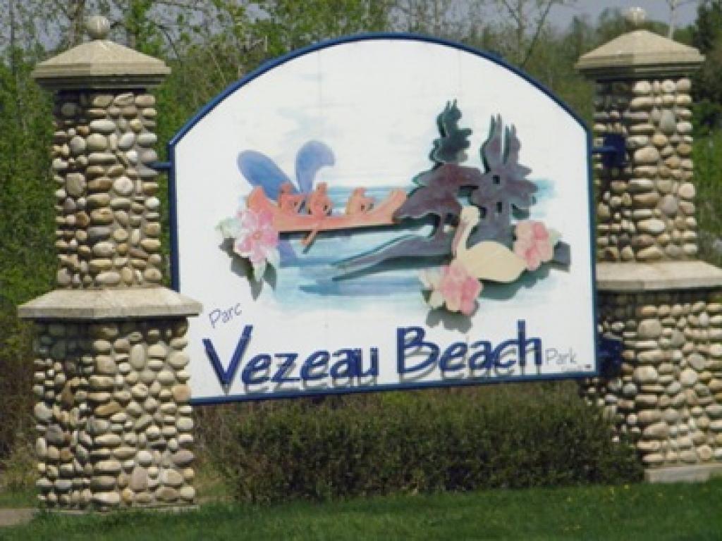 Vezeau Beach Park just around the corner