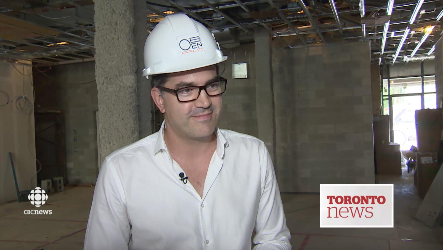 Oben Flats on CBC Toronto News