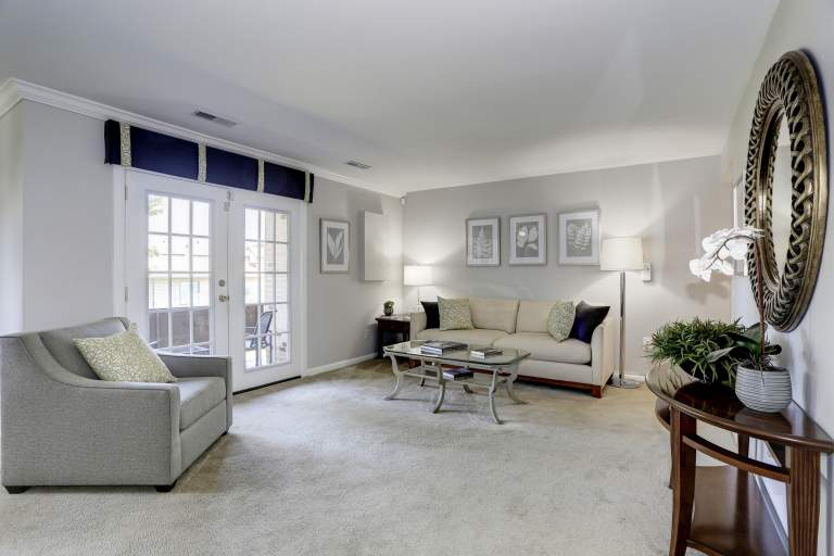 Living Room area at Tuscany Gardens Apartments in Windsor Mill, MD