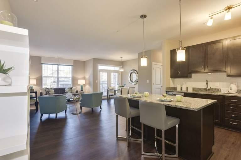 Gourmet kitchen at Avanti Luxury Apartments in Bel Air, MD