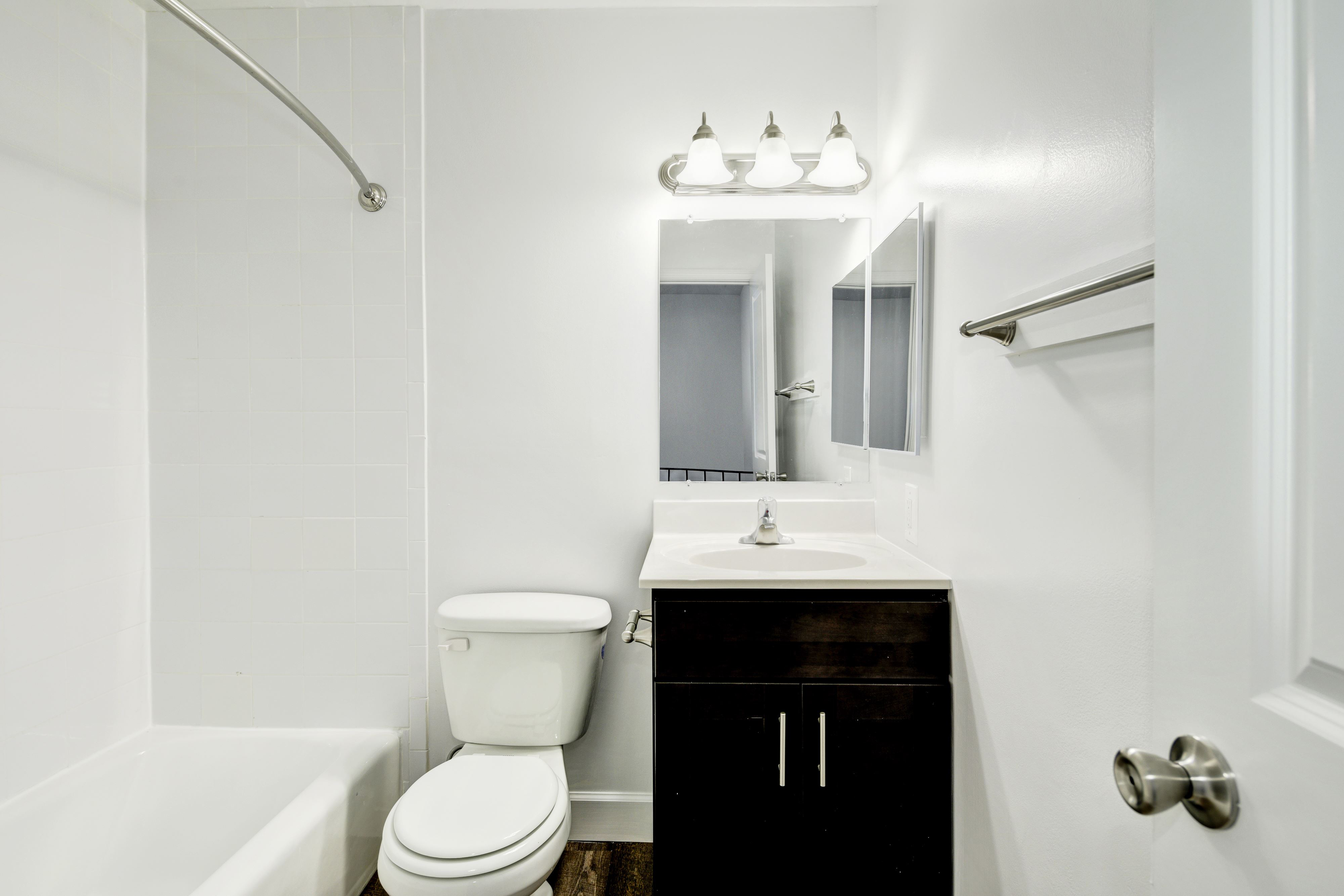 Renovated townhome bathroom at Marrion Square Apartments in Pikesville, MD
