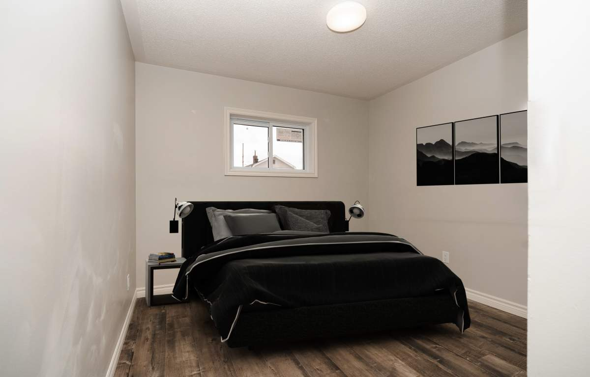 Bedroom/virtually staged