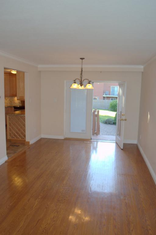 Dinning room with walk out to rear yard