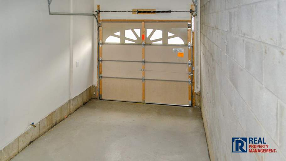garage with entry to home
