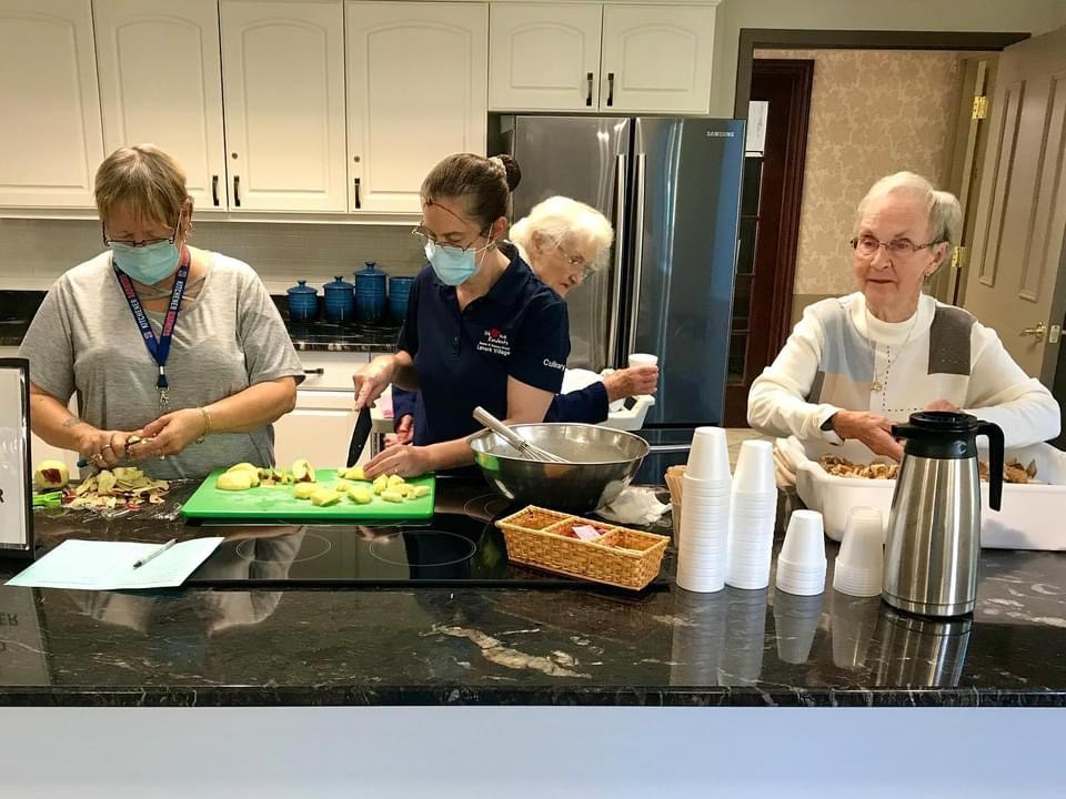Baking with Residents