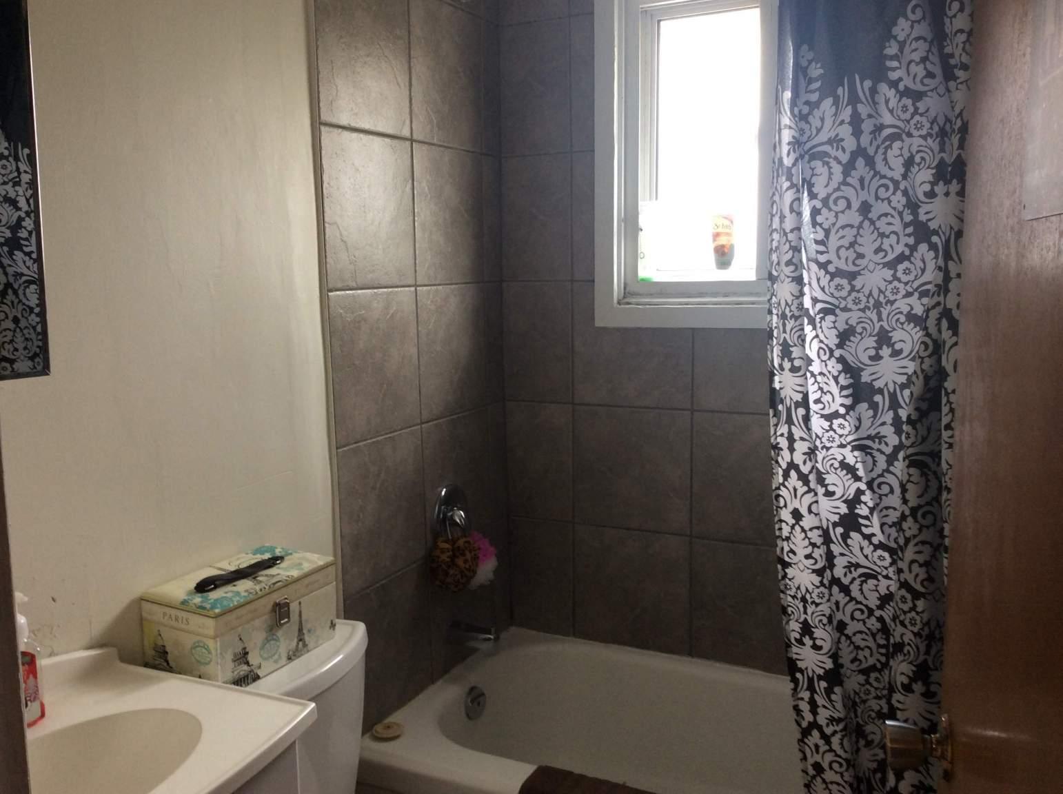 Bathroom- recently tiled