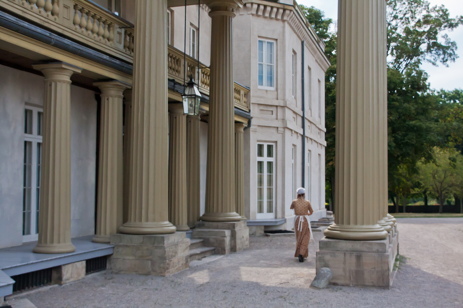 photo of old building with pillars