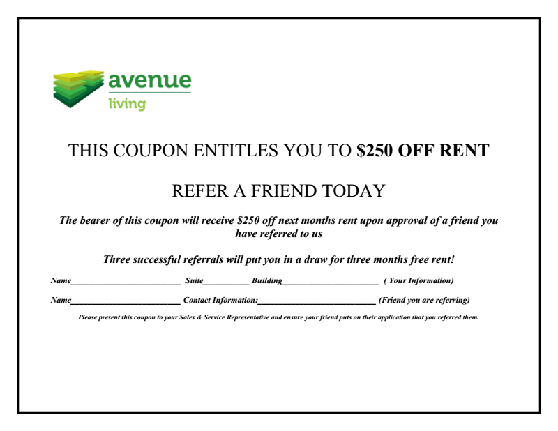 Resident Referral Coupon