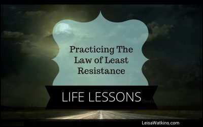 Life Lessons The Law of Least Resistance {Life Lessons}