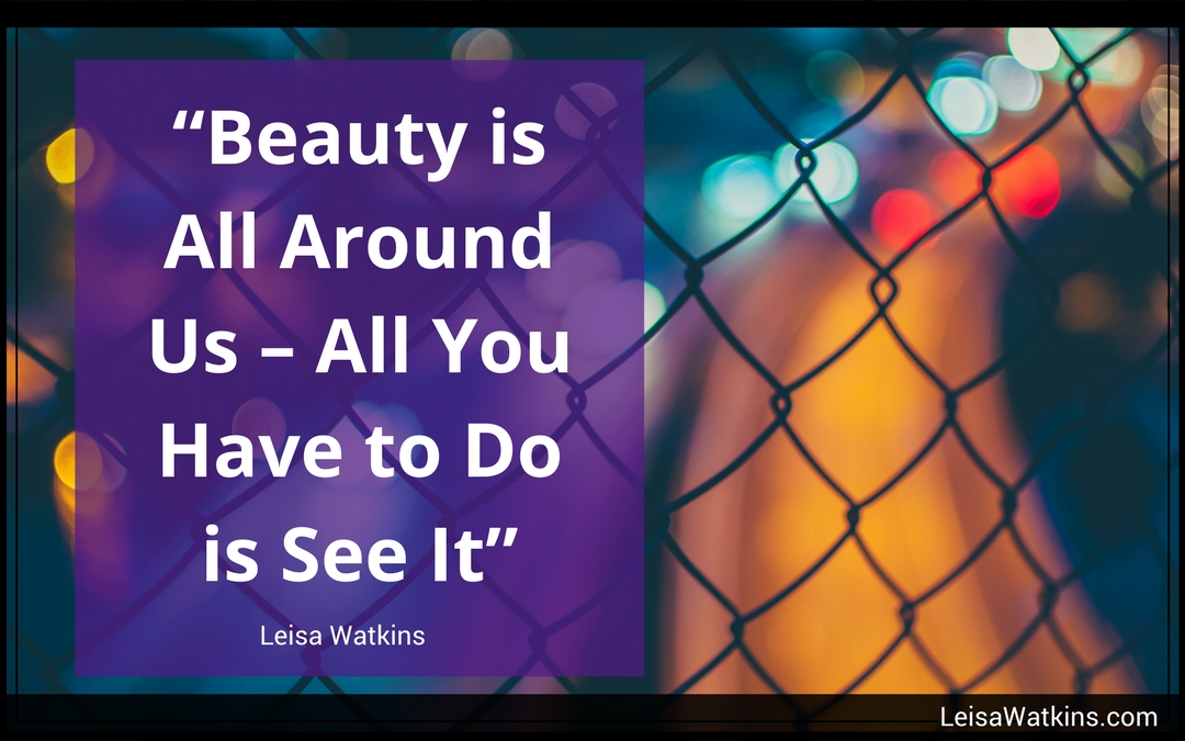 Beauty is All Around You - All You Have to Do is See It ~ Leisa Watkins