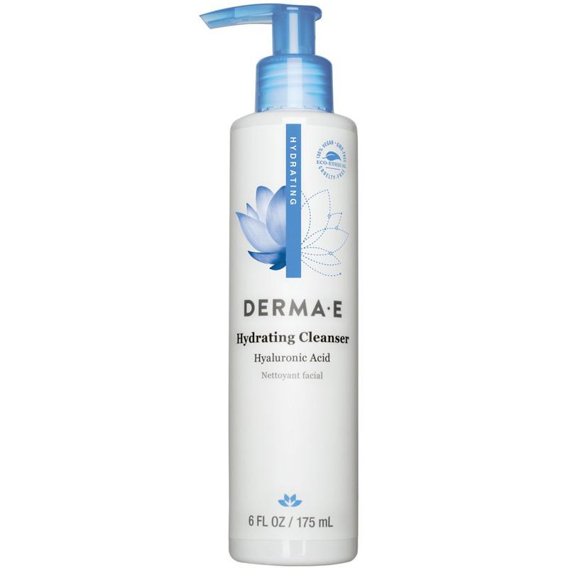 DERMA E - Hyaluronic Hydrating Cleanser For Silky-Soft Skin - 6 fl. oz. (175 ml)