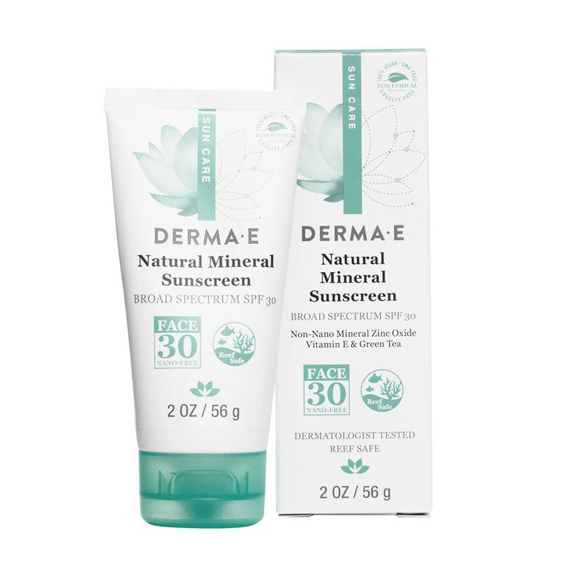 DERMA E Natural Mineral Sunscreen Broad Spectrum SPF 30 Oil-