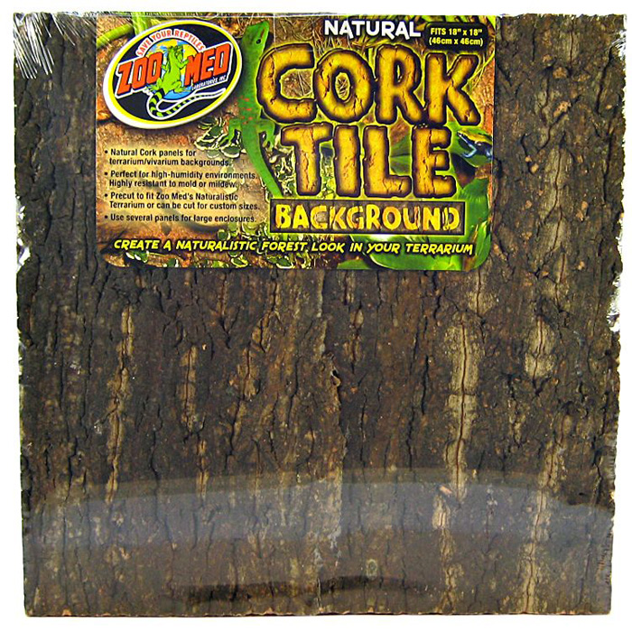 Zoo Med Laboratories Natural Cork Tile Background 18 X