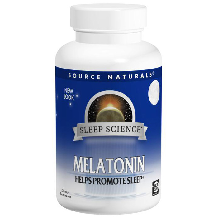 Source Naturals Melatonin Antioxidant Sublingual Peppermint 1 mg - 100 Tablets